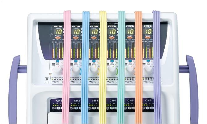1チャンネル1色、全6色のコードを採用