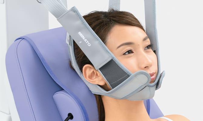 牽引力を効率良く伝える新型頸椎装具